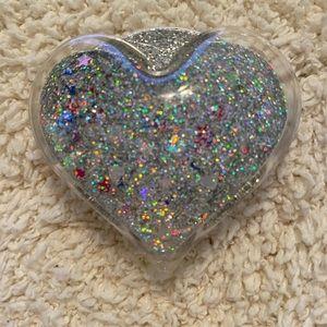 Accessories - Phone grip holder pop socket heart glitter glam